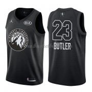 Minnesota Timberwolves Jimmy Butler 23# Svart 2018 All Star Game NBA Basketlinne..